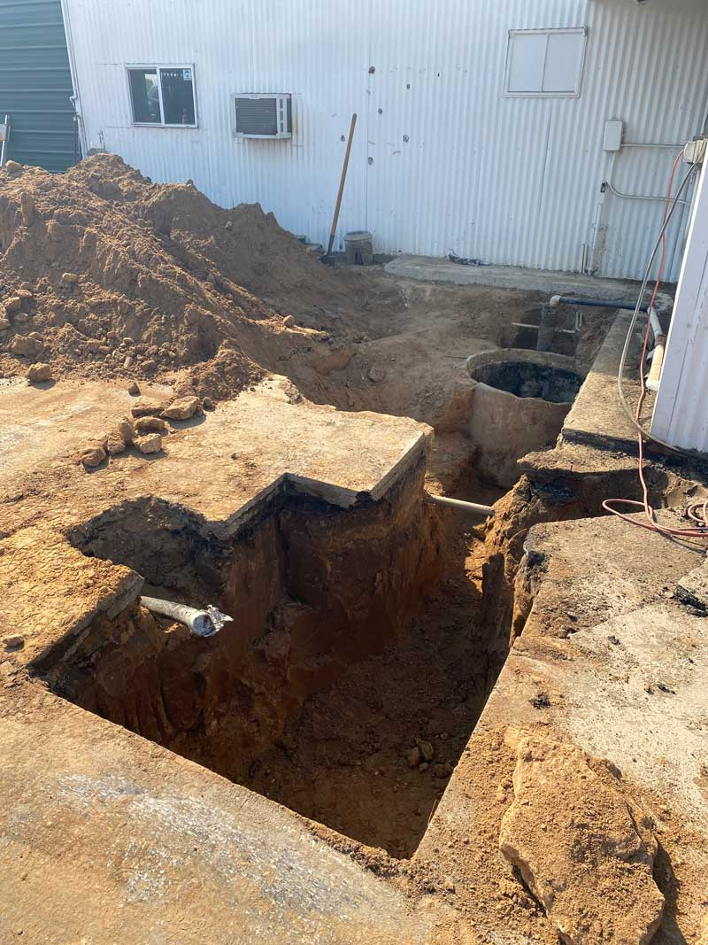 Septic abandonment inspection