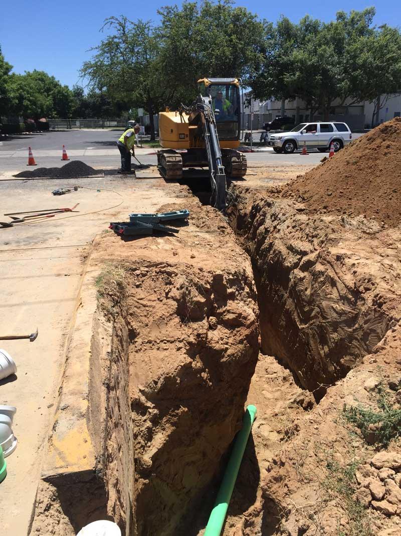 cost factors of sewer tie in